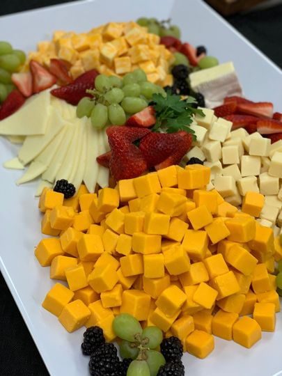 Overview of cheese platter