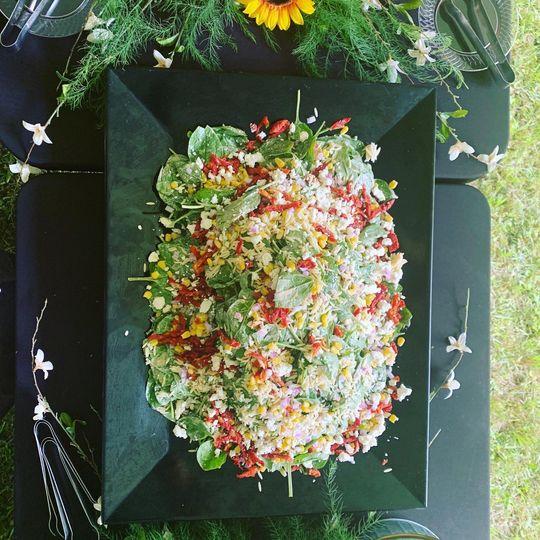 Vibrant mixed salad