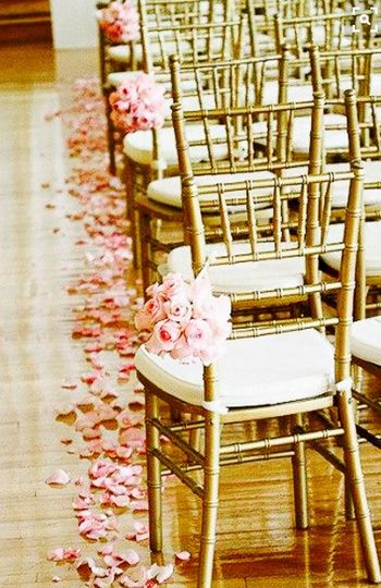 Pretty chairs with pink roses