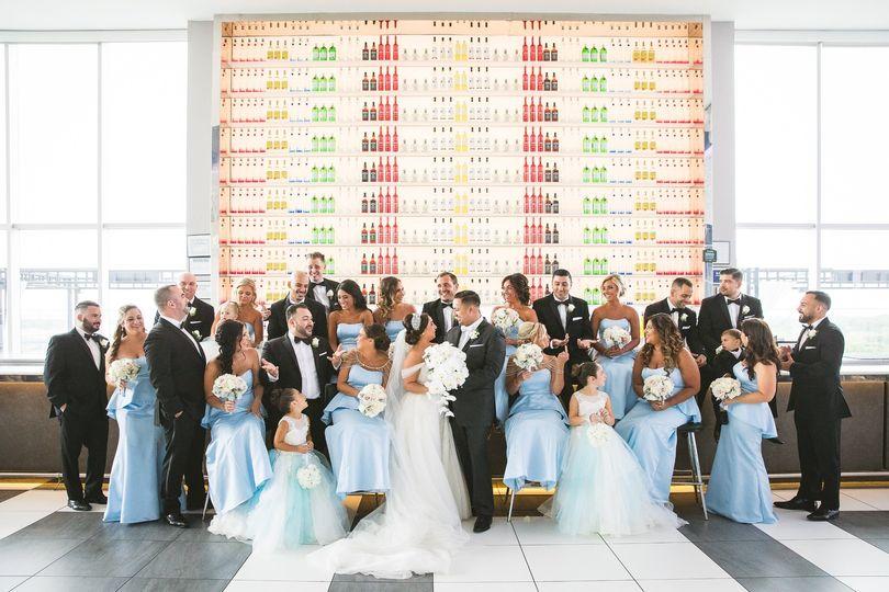 Bridal Party at Bar
