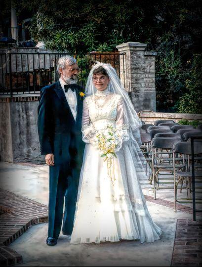Family wedding moment
