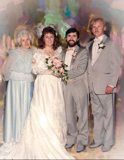 Wedding group portrait