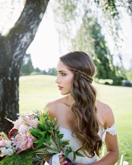 Bride in the gardens