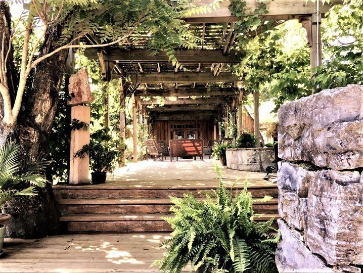 Stone garden & pergola