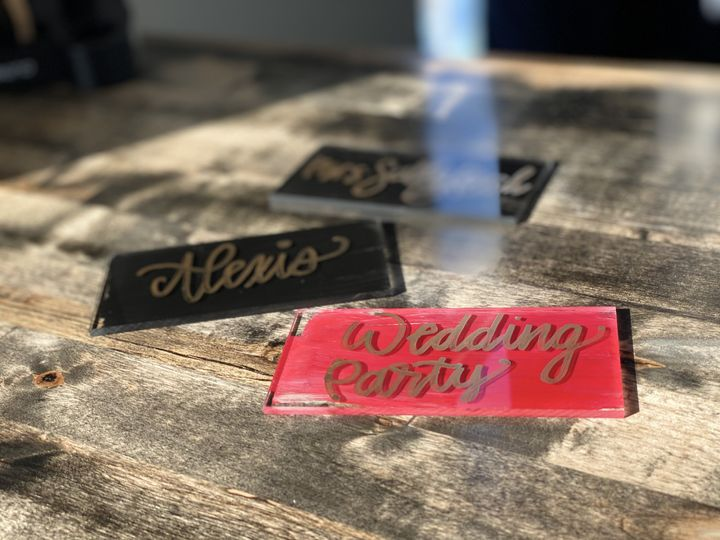 Sample place cards