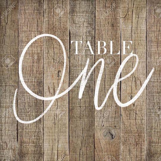 Digital table signage