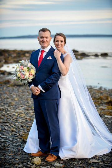 Couple by the Maine coast
