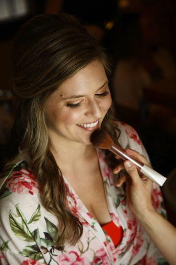 Applying the makeup