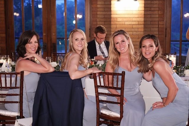 Wedding party is all smiles