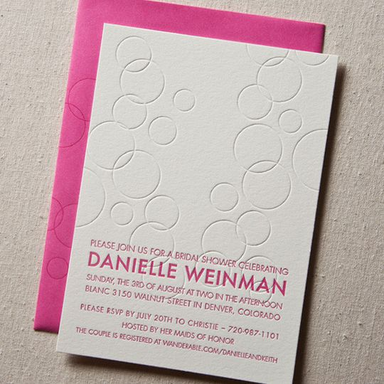 bubbly modern wedding invitation1