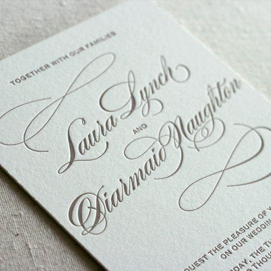 classic script letterpress invitation1