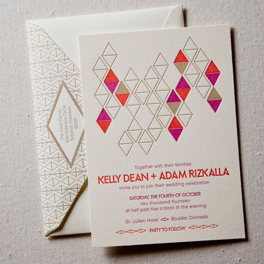 diamonds mod letterpress wedding1