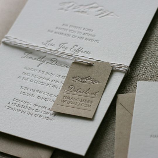 elegant mountain wedding invitation2
