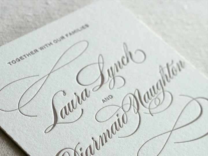 Tmx 1433887351181 Classic Script Letterpress Invitation1 Boulder, CO wedding invitation