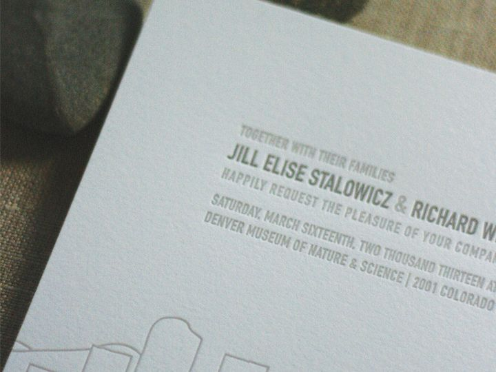 Tmx 1433887354553 Denver Skyline Wedding Invitation3 Boulder, CO wedding invitation