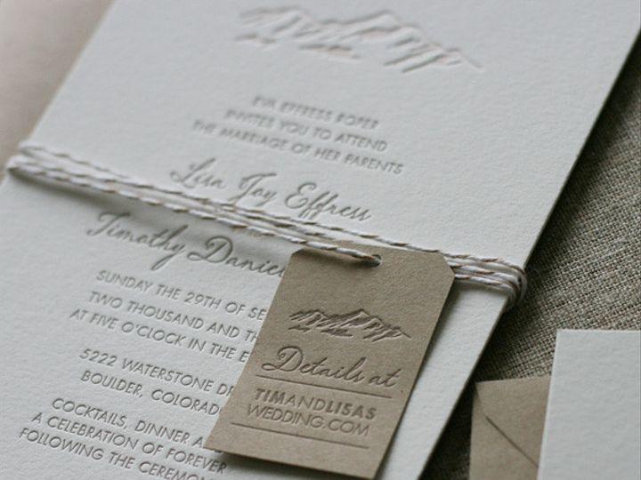 Tmx 1433887360473 Elegant Mountain Wedding Invitation2 Boulder, CO wedding invitation