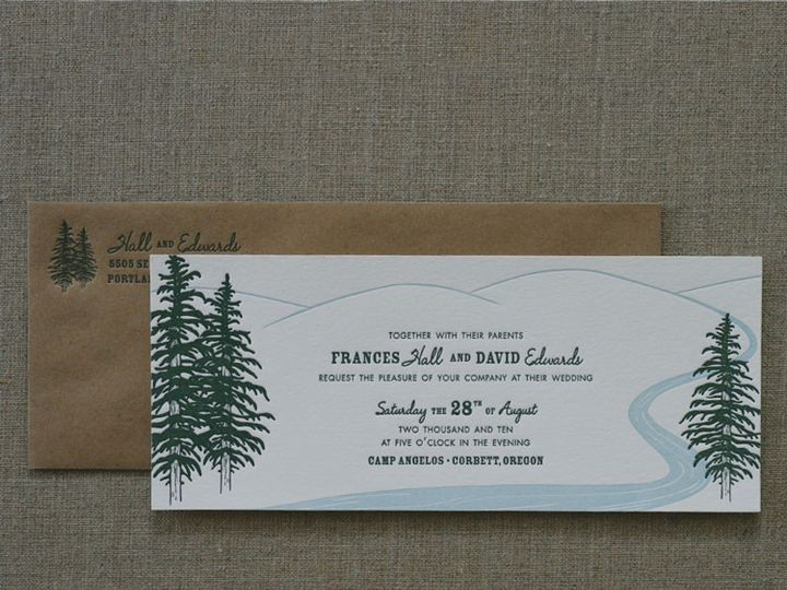 Tmx 1433887367060 Evergreen Stream Retro Invitation1 Boulder, CO wedding invitation