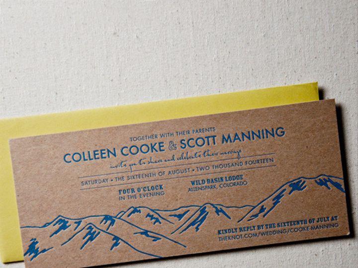 Tmx 1433887379030 High Pass Mountain Invitation2 Boulder, CO wedding invitation