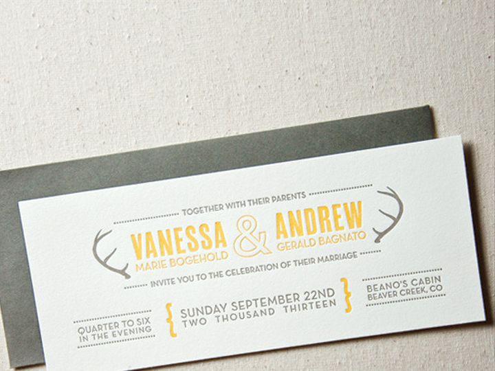 Tmx 1433887384120 Modern Antlers Wedding Invitations1 Boulder, CO wedding invitation
