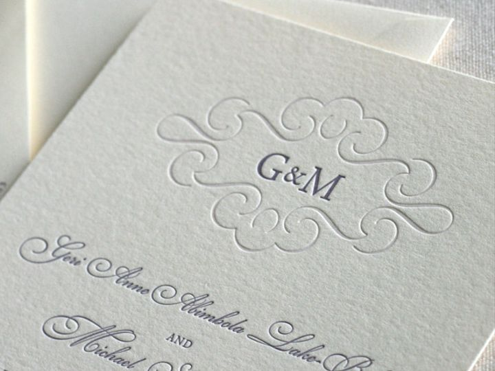 Tmx 1433887387129 Monogram Wedding Invitatation2 Boulder, CO wedding invitation