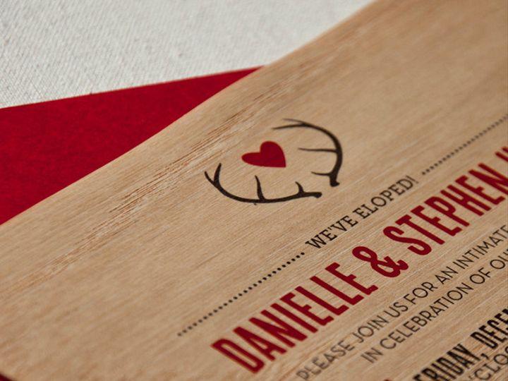 Tmx 1433887402412 Wood Grain Antlers Invitation2 Boulder, CO wedding invitation