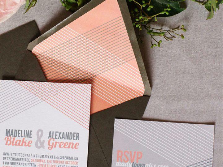 Tmx 1433887405622 Woven Lines Modern Invitation1 Boulder, CO wedding invitation