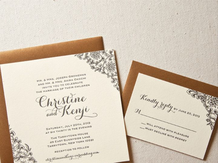 Tmx 1433887589553 Floral Corners Wedding Invitation1 Boulder, CO wedding invitation