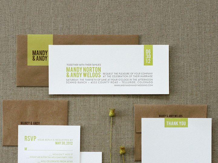 Tmx 1433887592531 Modern Rustic Wedding Invitation1 Boulder, CO wedding invitation