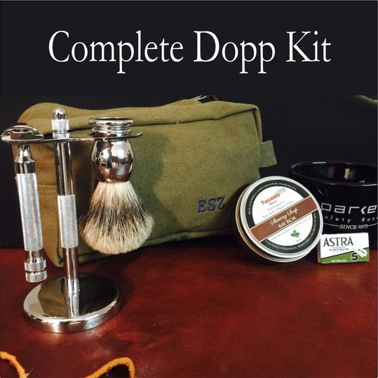 Groomsmen Gift Shave Kit Bag Personalized