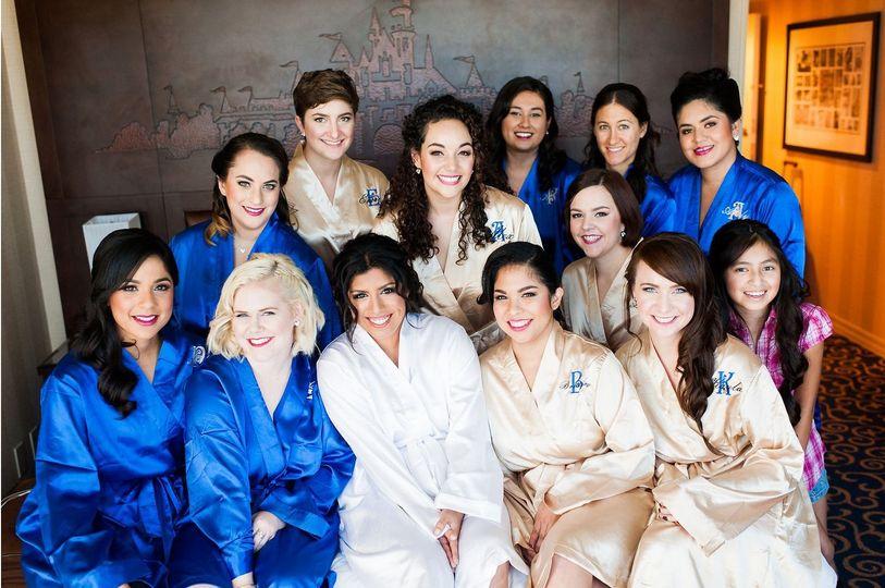 Satin Bridal Bridesmaids Wedding Robes
