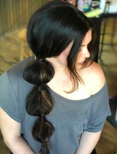 Dramatic ponytail