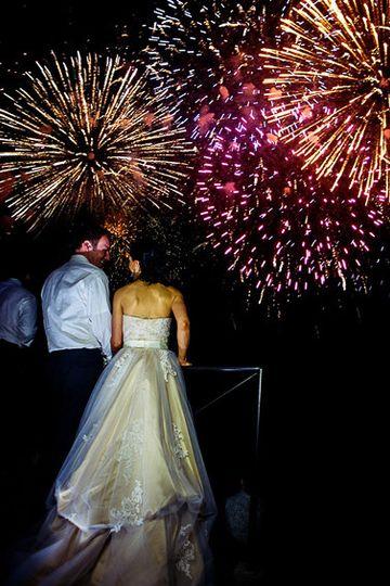 Fireworks at villa