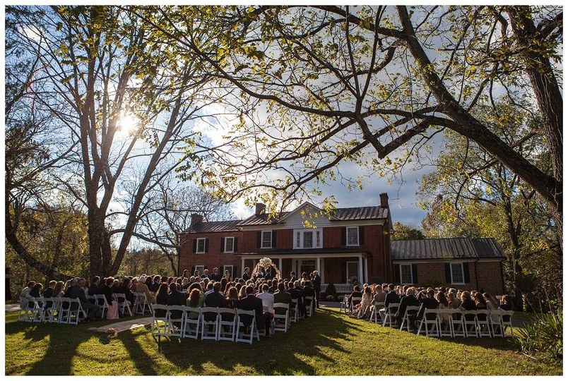 A ceremony with a view