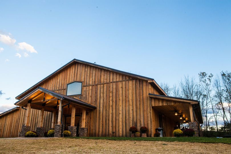 Front and side view of barn