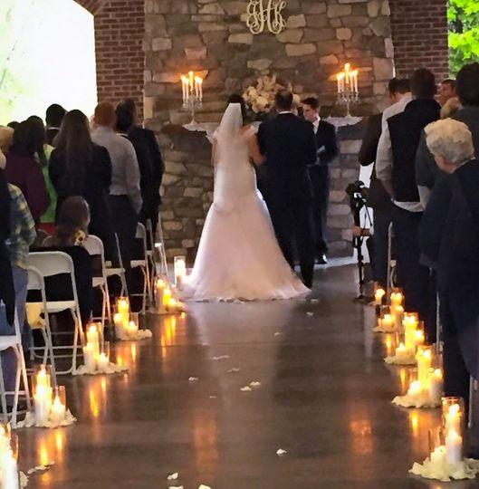 Ceremony under Pavilion cover