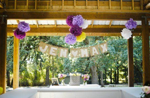 Wedding sign and decor