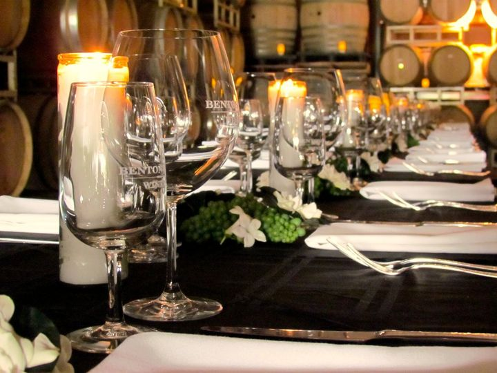 Candle lit table setting
