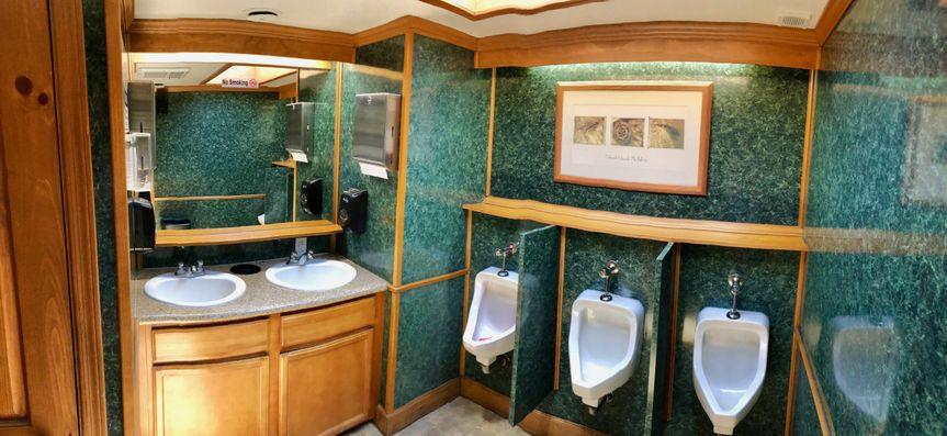 Vip restroom trailer inside