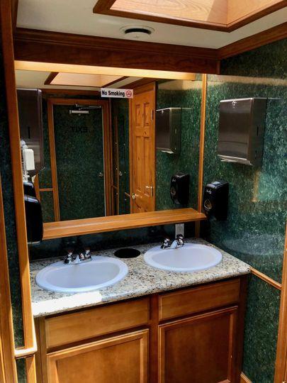 Vip restroom trailer sink