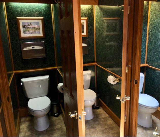 Vip restroom trailer interior