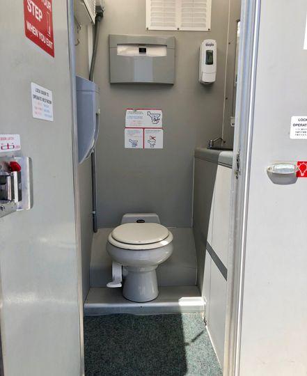 Solar toilet interior