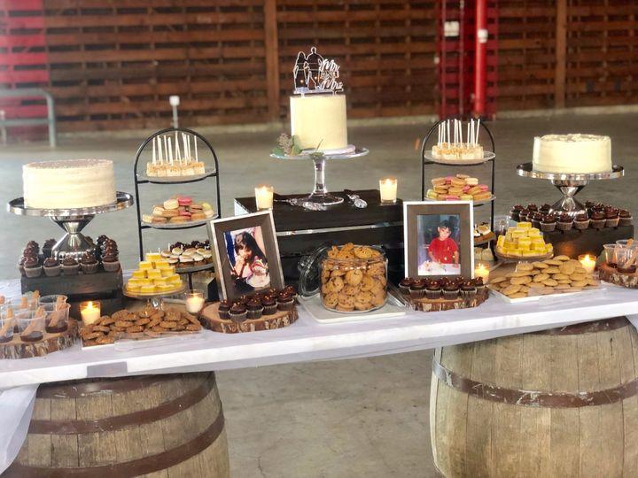 Rustic themed dessert bar