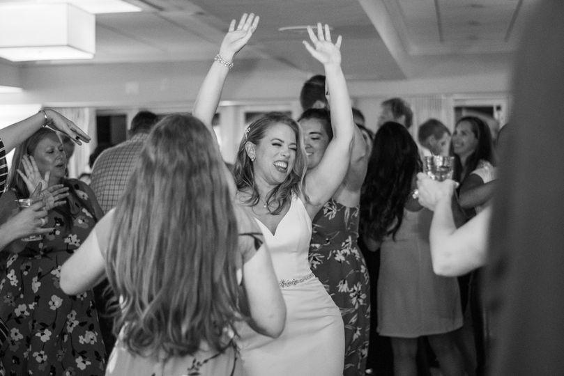 Bride enjoying dance floor