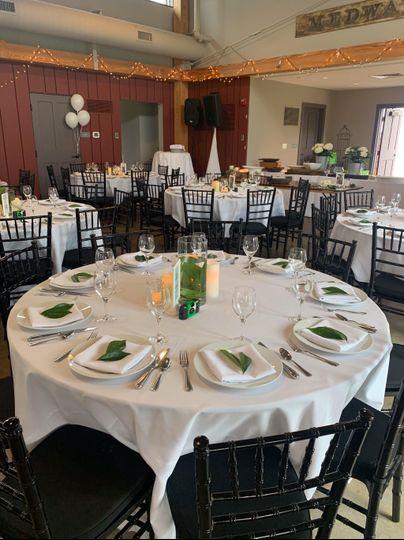 Wedding reception and ceremony
