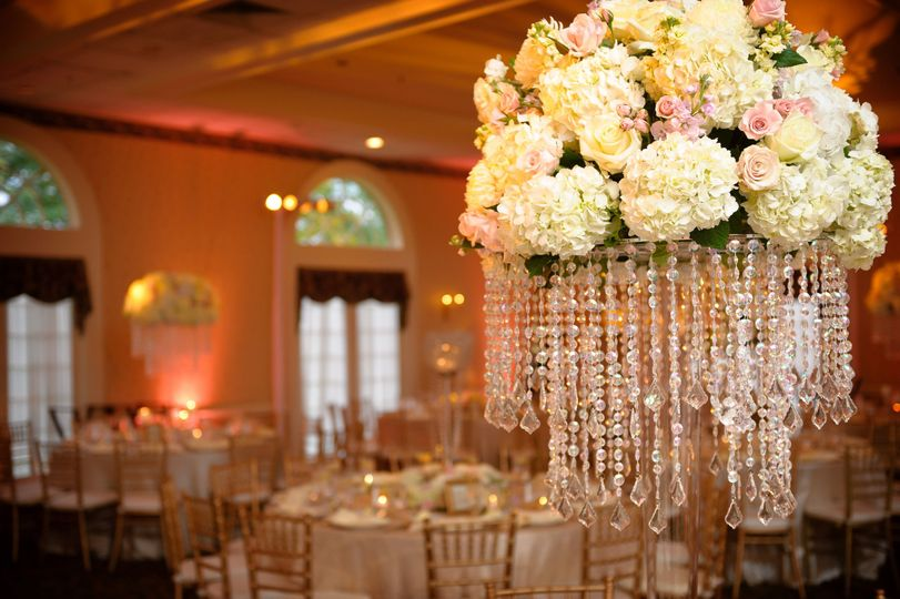 dripping crystal centerpiece over the top