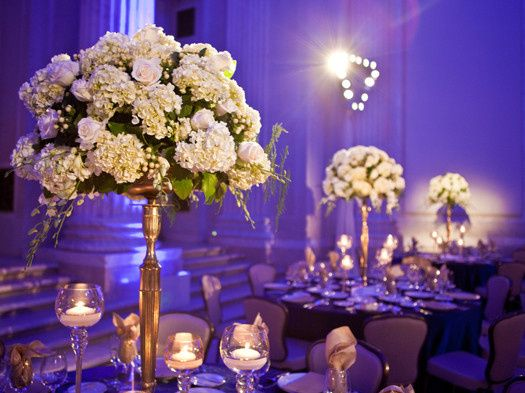 white high centerpiece