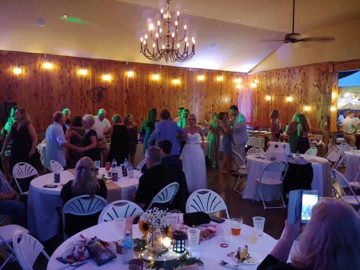A lively reception