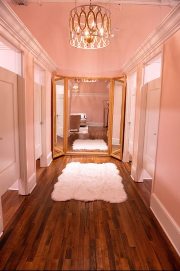 Corridor and fitting rooms