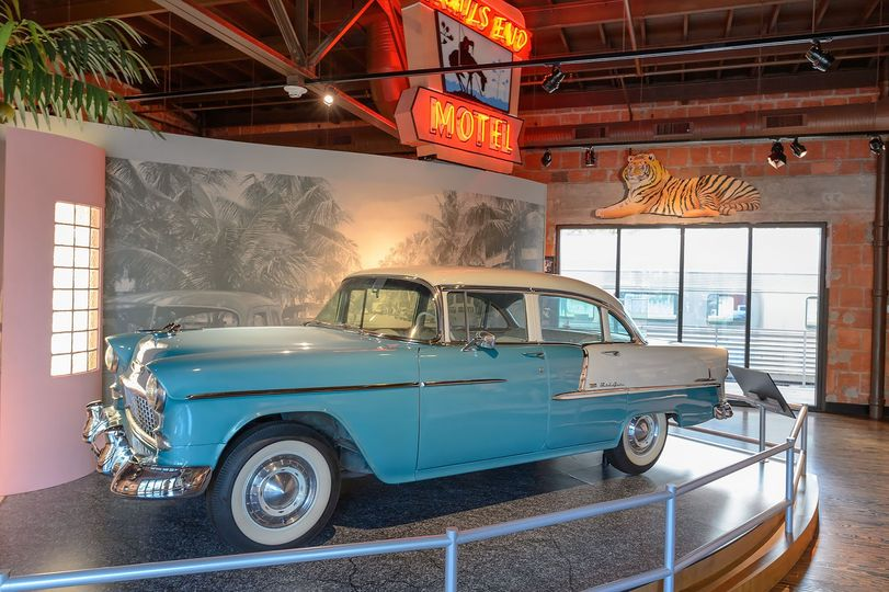Vintage car in museum