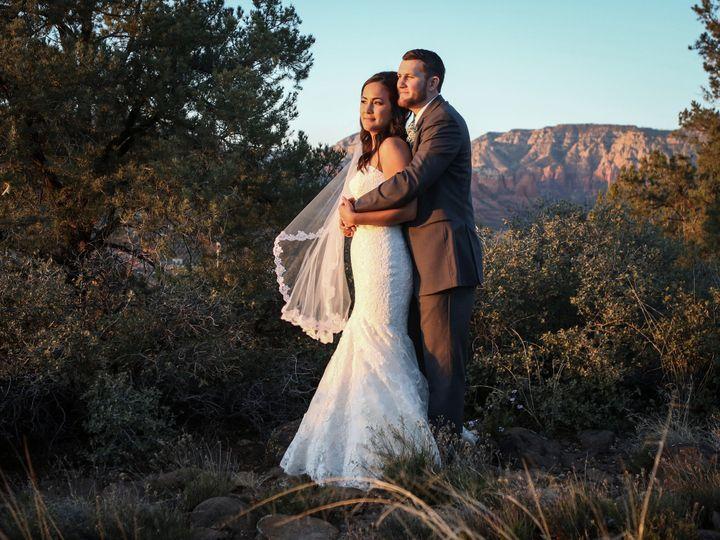 A beautiful newlywed couple